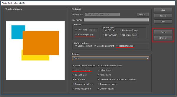 Скрипт Vector Stock Helper для проверки вектора для стоков в Adobe Illustrator